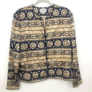 Adrianna Papell Silk Jacket 16